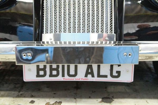 Stainless steel number plate box